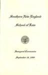 Inaugural Ceremonies Program: September 18, 1999 by No Author